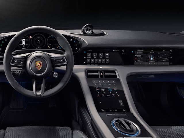 Porsche just revealed the interior of its all-electric Taycan sports car, and drivers who hate Tesla's giant touchscreens will love it