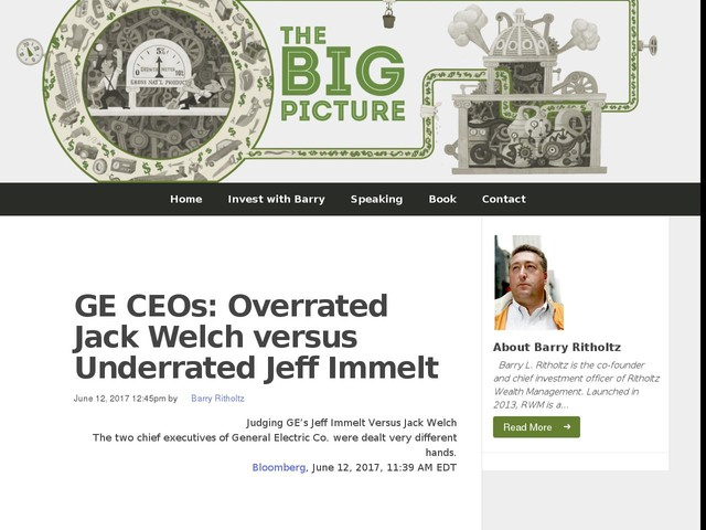 GE CEOs: Overrated Jack Welch versus Underrated Jeff Immelt