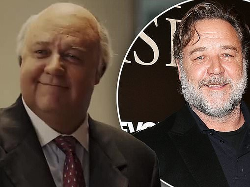 Russell Crowe is nearly unrecognizable as he transforms into former Fox CEO Roger Ailes