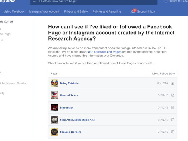 A new Facebook tool will let users see if they fell for Russian propaganda