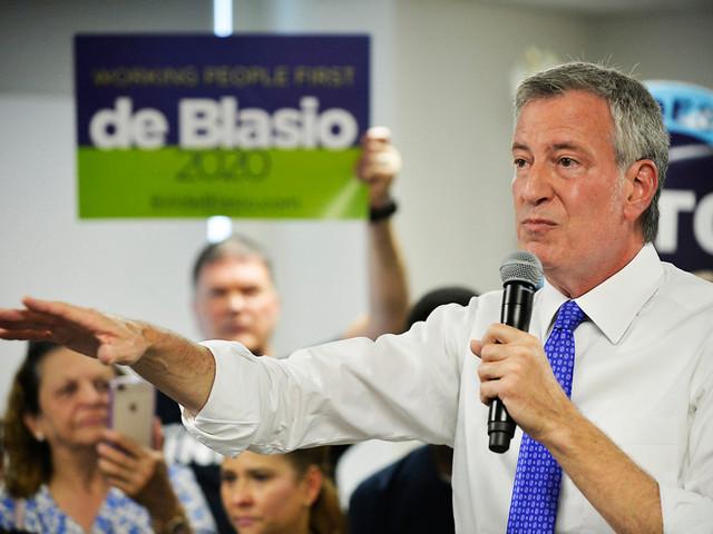 De Blasio presidential campaign raises just $1.1M for 2020 bid