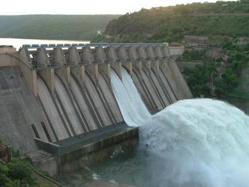 Two gates of Srisailam Dam lifted; 142,903 cusecs released