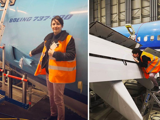 Woman reveals WEDDING plans with Boeing jet she's been dating for six years
