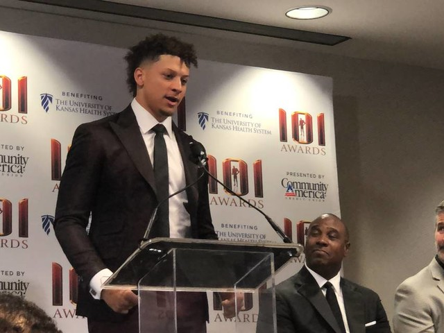 Mahomes named Sportsman of the Year by Kansas City Sports Commission
