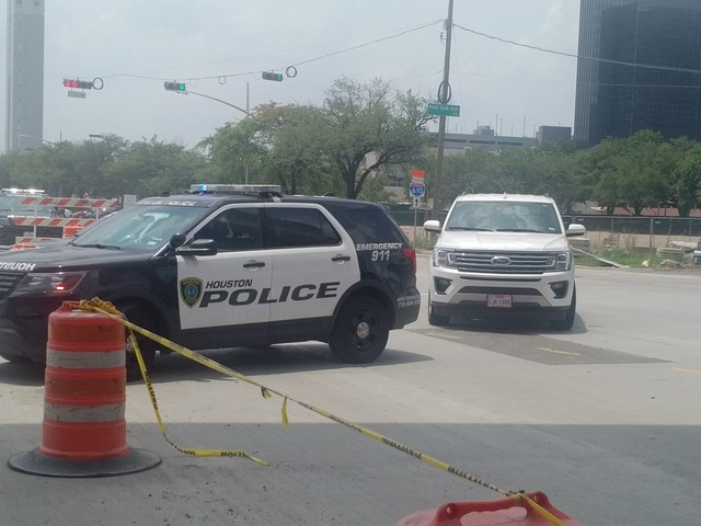 Off-duty officer hit while directing traffic in Galleria area