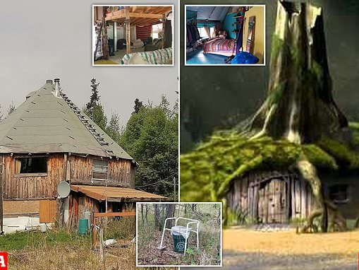 'Private Alaskan getaway' with a plastic trashcan for an outside toilet is on the market
