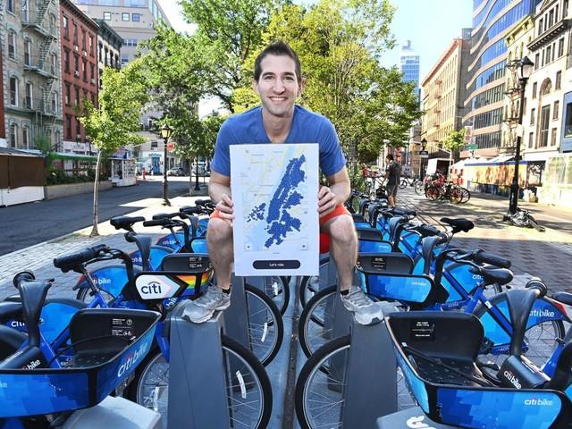 Manhattan man first to visit every Citi Bike station