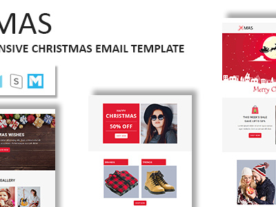 XMAS - Responsive Christmas Email Newsletter Template with Stampready Builder Access (Newsletters)