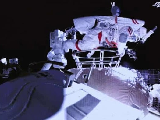 Two Taikonauts Complete First Spacewalk Outside Chinese Station