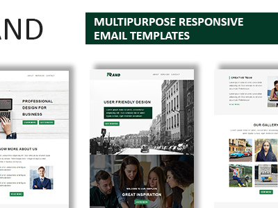 Rand - Multipurpose Responsive Email Template With Online StampReady Builder Access (Newsletters)