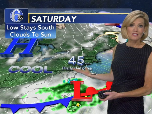 AccuWeather: Seasonably Cool Air Returns, Light Wintry Mix Sunday Night