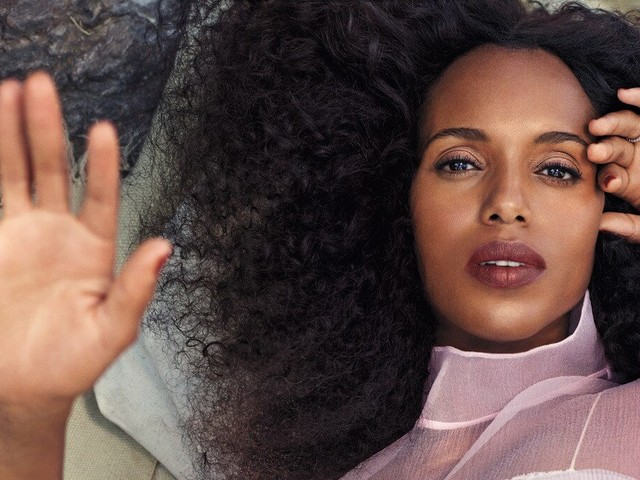 Kerry Washington Credits Her Children for Giving Her Confidence to Rock Her Natural Hair