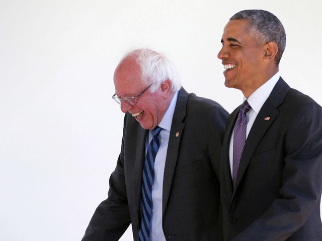 Obama has said he would publicly oppose giving Bernie Sanders the Democratic nomination, adviser says