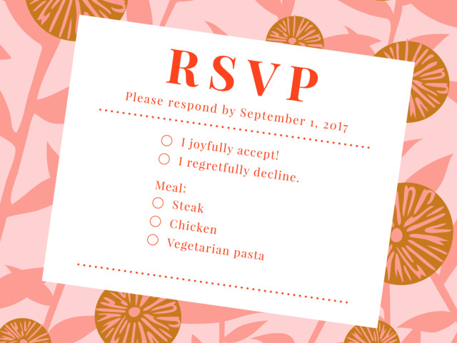 How Not To RSVP To A Wedding