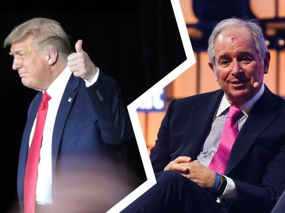Blackstone boss leads Wall Street charge for Trump