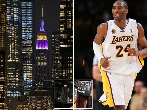 Empire State Building lights up in tribute to basketball legend Kobe Bryant
