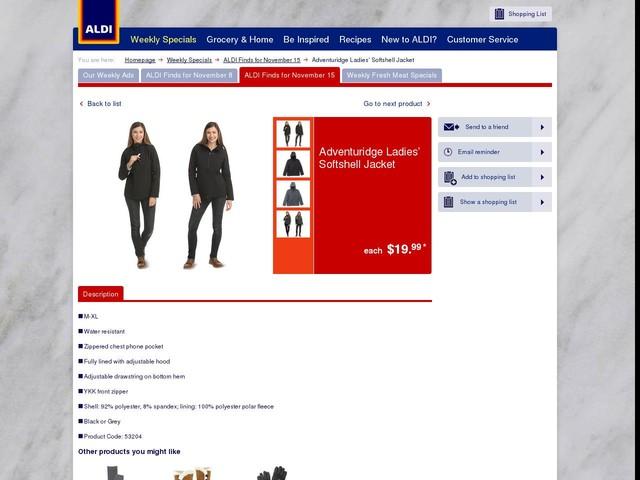 Adventuridge Ladies' Softshell Jacket