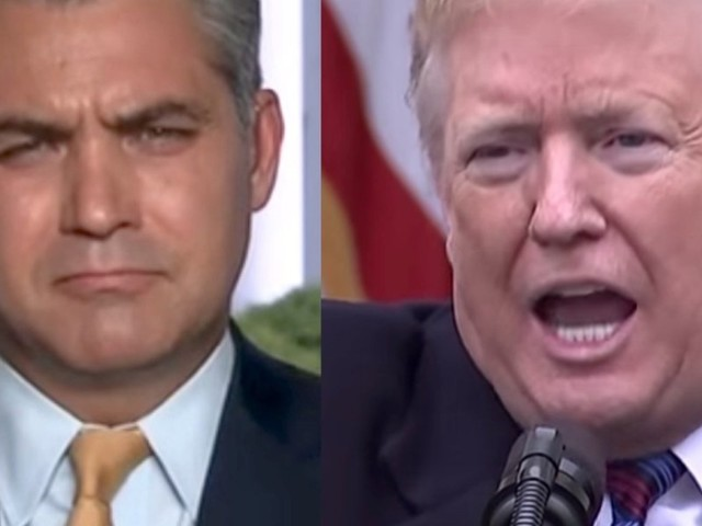 WATCH: Trump took a hilarious jab at Jim Acosta when he saw him in the White House