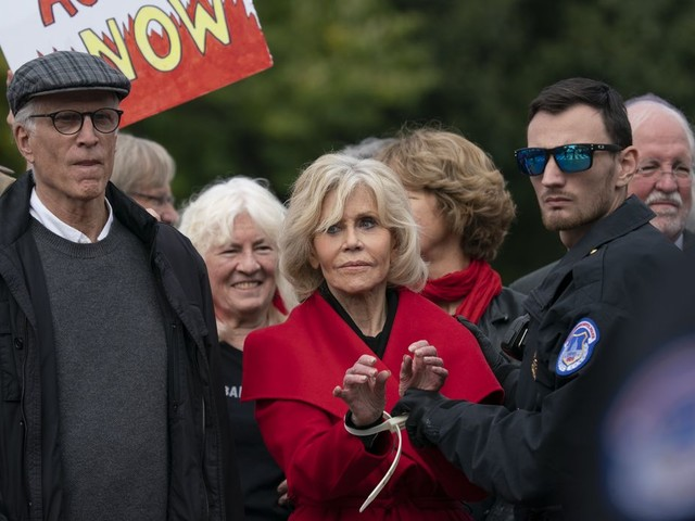 Jane Fonda, joined by Ted Danson, arrested (again) in climate change protests