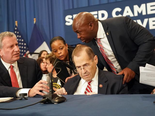 Congressman Nadler falls ill at Manhattan press conference