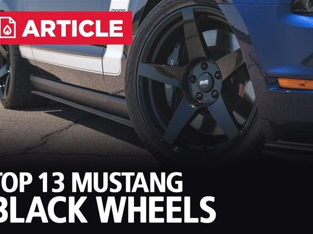 Top 13 Mustang Black Wheels