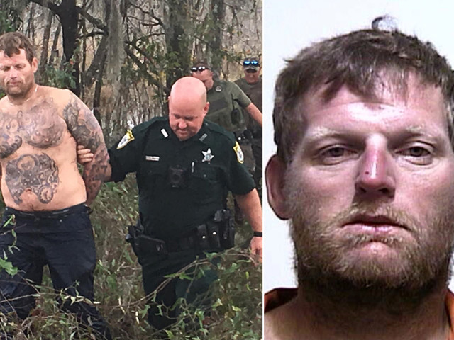 Florida man on the lam hides under water, busted when he comes up for air