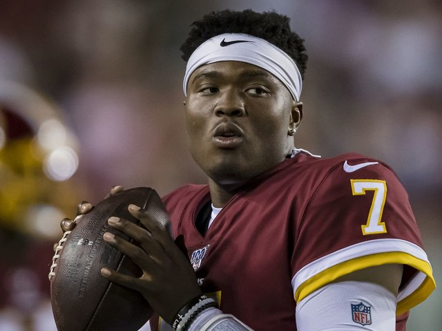 When is the right time for Washington to throw Dwayne Haskins into the fire?