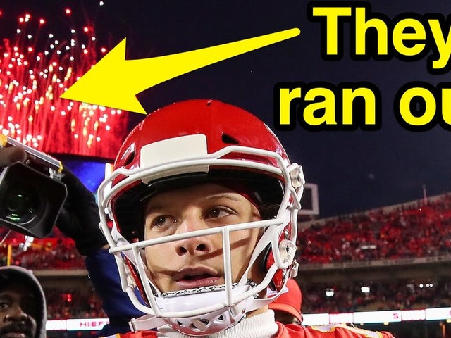 The Chiefs scored so many touchdowns in their historic comeback against the Texans, they ran out of fireworks