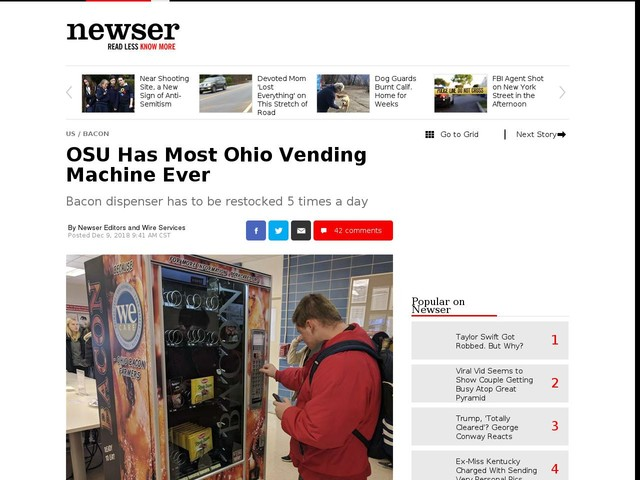 OSU Has Most Ohio Vending Machine Ever