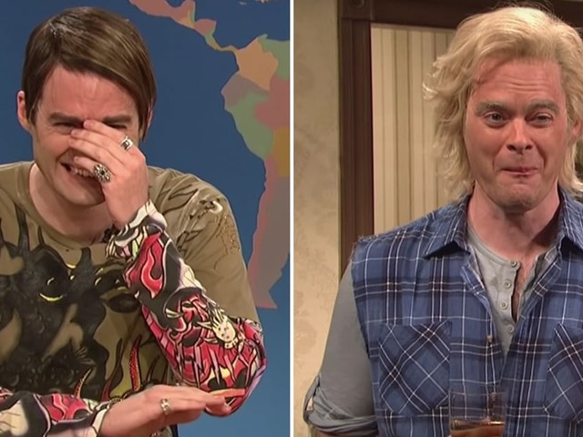 10 Times Bill Hader Couldn't Stop Laughing on SNL (and Neither Could We)