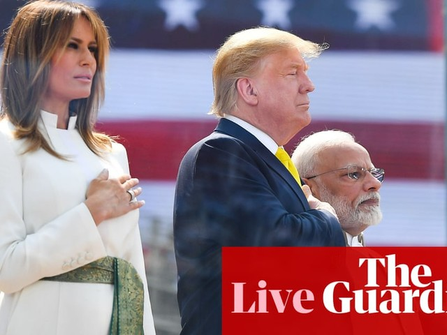 Trump holds rally in India while Steyer qualifies for South Carolina debate - live updates