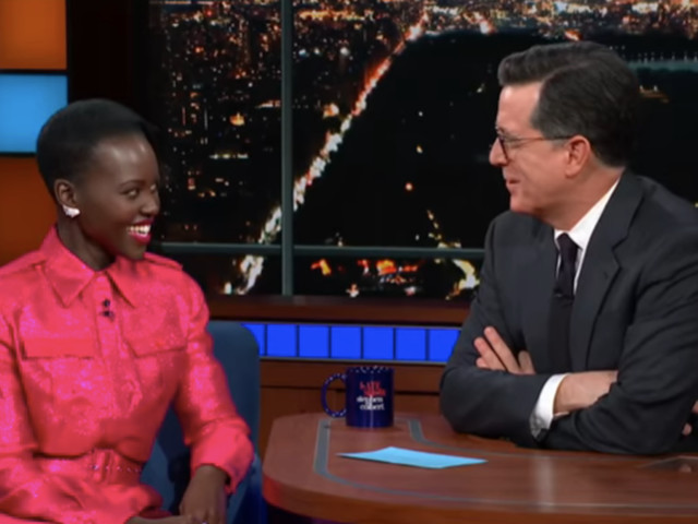 Lupita Nyong'o bewitches, freaks out Stephen Colbert with golden eyes and tales of Us