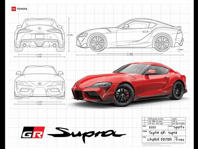 Toyota Is Giving Away a Really Cool Supra Poster