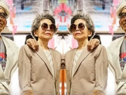 80-Year-Old Taiwanese Laundromat Owners Become Instagram Famous Modeling Lost Clothes