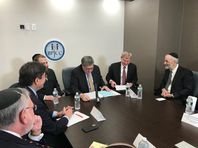 Attorney General William Barr meets with Brooklyn religious leaders amid spike in anti-Semitism