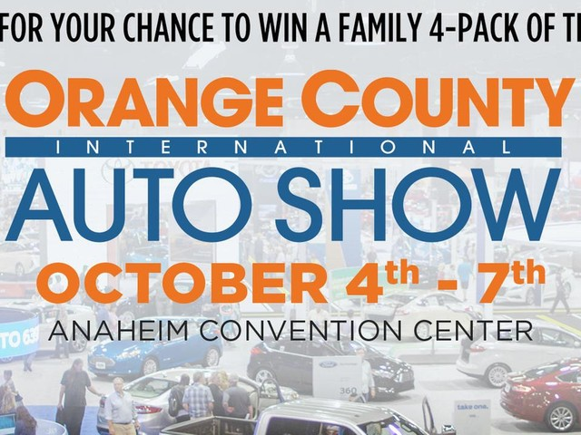 Enter for a chance to win tickets to the OC International Auto Show!