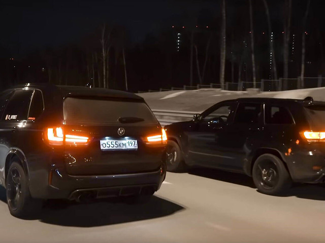 Jeep Grand Cherokee Trackhawk Meets BMW X5 M In Super SUV Drag Race