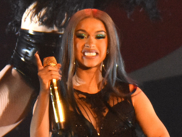 Cardi B Shows Off Her Assets at B96 Pepsi Jingle Bash