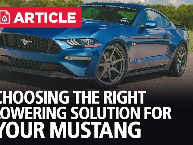 Choosing The Right Lowering Solution For Your Mustang