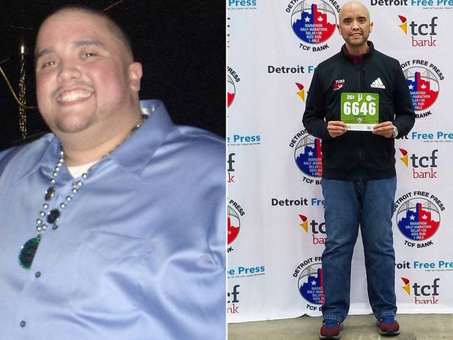 Michigan man Carlos Orosco completes marathon in Detroit after losing 475 pounds