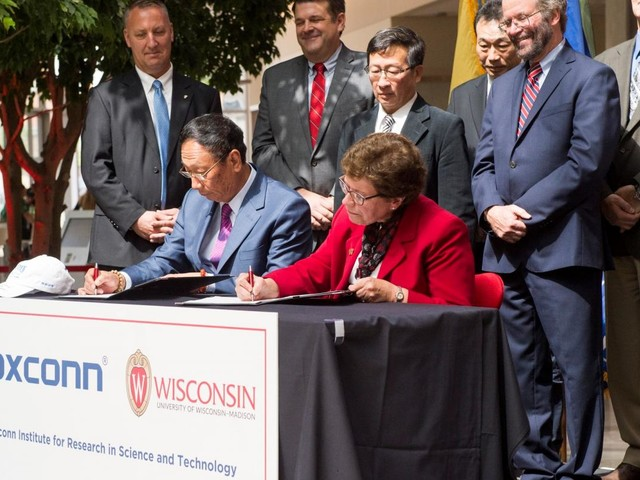 UW Madison has received less than 1 percent of $100M Foxconn pledge