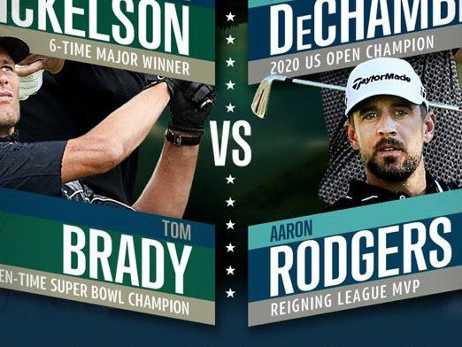 Tom Brady and Aaron Rodgers are going head-to-head in 'The Match' golf tournament