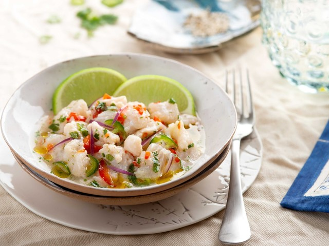 Low-carb ceviche