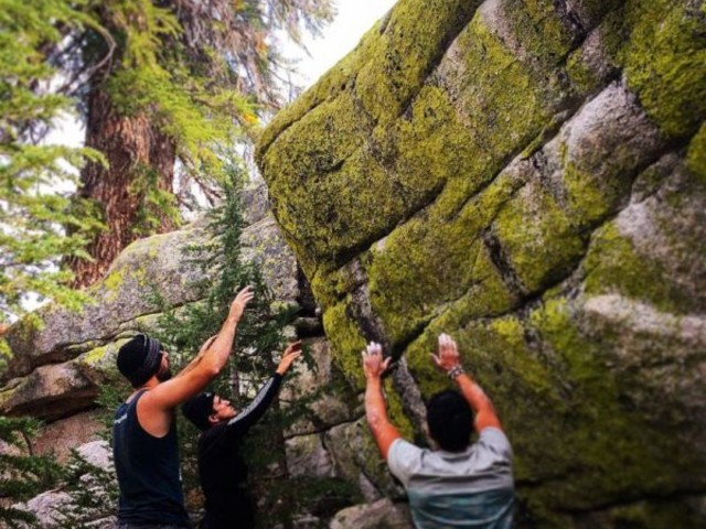 Photoshoppers Turn Rock Climbers Into Worshippers Of Stone