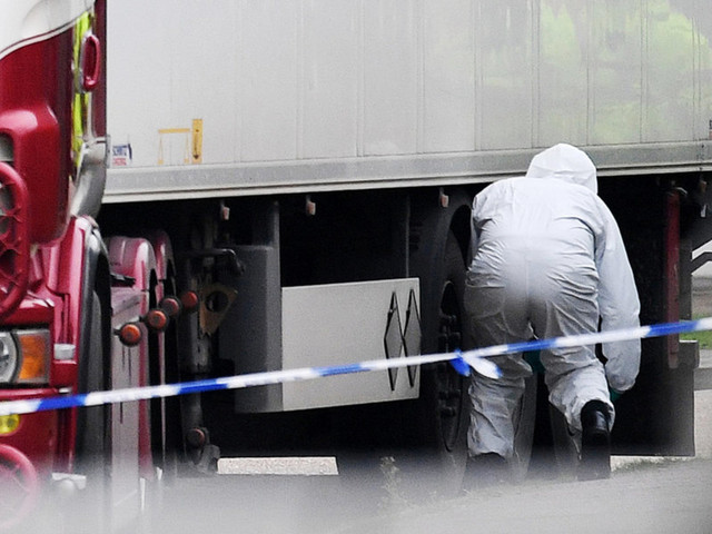 39 found dead in refrigerated truck container in UK; human trafficking suspected