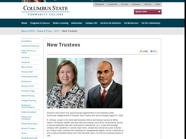 New Trustees