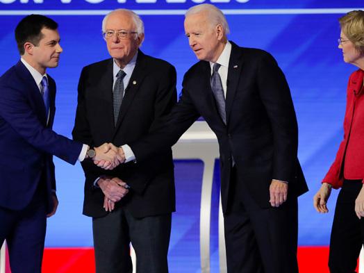 Democratic Debate: Joe Biden, Bernie Sanders, Amy Klobuchar Take Aim at Pete Buttigieg