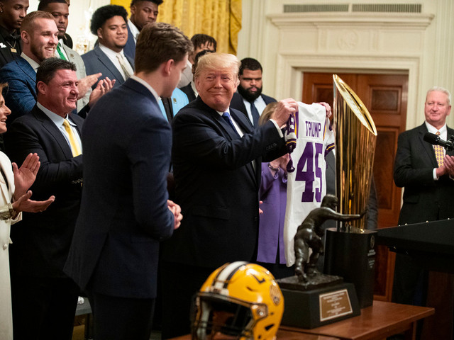 Trump welcomes National Champions LSU Tigers to White House