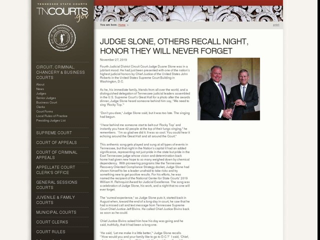 Judge Slone, Others Recall Night, Honor They Will Never Forget