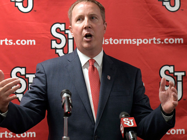 St. John's hosts NCAA Cinderella coach and insists there's no rush